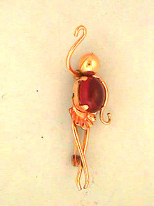 Red Belly Dancer Ballerina Pin G/F Van Dell Vintage