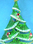 BJ Christmas Tree Pin Candy Canes Vintage