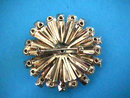 AB Snowflake Pin Brooch Gorgeous Vintage 2.25 in