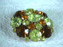 Fall Colors Cushion Pin Brooch Vintage Stunning