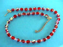 Austrian RED Crystal Neck AB Vintage Gorgeous!