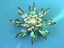 JUDY LEE Aqua Pin Aurora Starburst Vintage