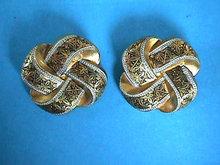 Toledo Damascene Knot Celtic Earrings SPAIN