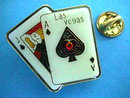Las Vegas Gambling Pin Blinks Ace Jack Cards