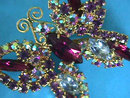 Multi Butterfly Pin Brooch Colors Vintage Beautiful!