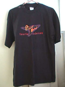 Laurie Anderson T Shirt 1994 Puppet Motel Authentic Never Worn