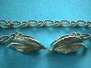 Vintage Sweater Clip Guard  Bracelet Leaf Silver Signed