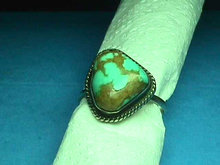 Navajo TURQUOISE Ring Sterling Chunky Vintage
