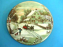 Currier Ives WINTER  Homestead Porcelain Plate