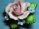 DENTON Rose Brooch Pin Porcelain Vintage Perfect