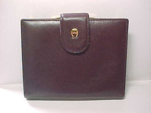 Etienne Aigner Wallet Burgundy Leather Soft as Butter Vintage