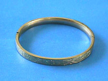 FM Vintage Bangle GF Locking Etched Hinged
