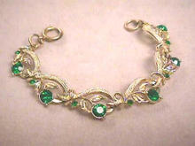 Emerald Green Flower Bracelet,G/T,Germany