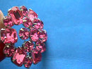 PINK Rhinestones Pin Brooch Prong Set Vintage