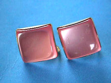 PINK Moonglow Earrings Squares Vintage