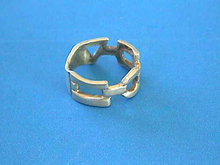 Machine Age Ring Sterling Elements Vintage