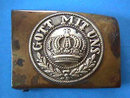 German Belt Buckle GOTT MIT UNS Brass OLD WW1