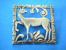 BRKS Sterling Pin Silver Art Deco Deer Vintage