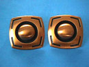 MOD Copper Earrings Large Clips Vintage