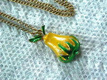Sweet Fruit Pendant Chain Neck Enamel Handpainted