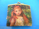 Little Girl Image Coin Change Purse Vintage Italy