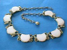 CREAM Thermoset Necklace Pearlized Moonglow Gorgeous