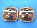 Castillo Style Parrot Cuff Links Mixed Metals Sterling