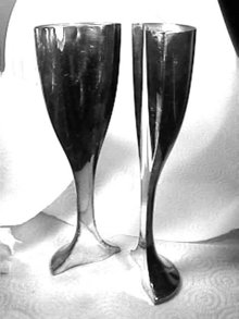 Cazenovia SPLIT Toasting Goblet Unique HOLLAND