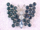 Blues Butterfly Pin Brooch 3 Shades RSs Vint