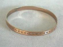 Rose Gold Plate with Hearts,Design Bangle