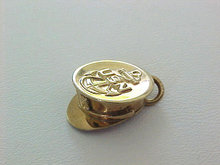 Navy Gold Filled Hat Charm DANECRAFT USN Vintage