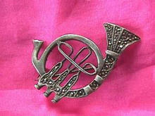 Marcasite Sterling French Horn Pin