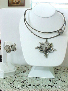 Modernist Wrapped Crystal Set Unusual OOAK