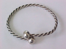 Handmade Twisted Sterling Bracelet Locking Adjustable