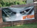 REDUCED  GIRLFIGHT Movie Banner Original Mint 2000 10 x 4 FT