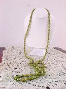 Shimmering Light Olive Necklace 54 In Vintage
