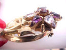 Barclay Amethyst Pear Rhinestones Pin Brooch Vintage