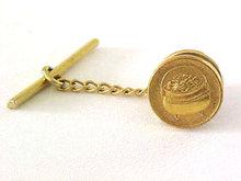 Pot of Gold Tie Tac Mechanical Back Vintage