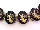 Siam Dancer Bracelet Reverse Carved Glass Vintage