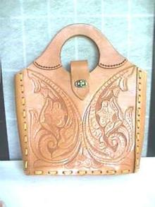 Beautiful Vintage Hand Made Leather Purse