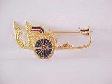 Chariot Pin Roman Enamel Brooch