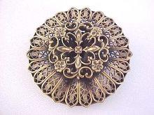 Joseff of Hollywood Filigree Layered Pin Vintage Beautiful