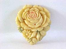 Antique JAPAN Celluloid Pin Rose Floral Vintage