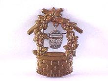 Wishing Well Pin Water Bucket Dangle Vintage