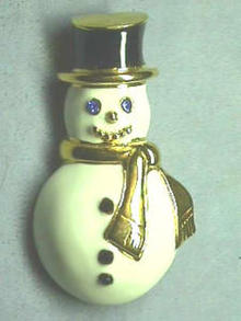 Monet Snowman Pin, Beautiful