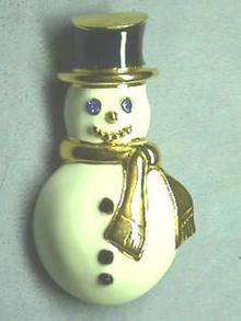 Monet Snowman Pin, Beautiful