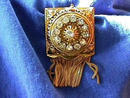 Vint ornate g/t 17j flgree frnged lapel watch