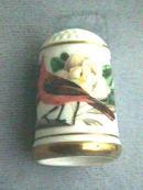 Franklin Porcelain L.E. Thimble 1979 Signed