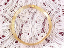 Monet Collar Necklace Gold Tone Etched Choker Vintage