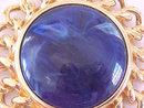 KJL Blue Stone Pin Pendant Kenneth Lane Vintage